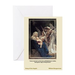 Song of the Angels-Bouguereau-Greeting Card