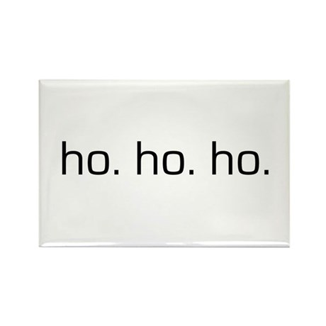 Ho Ho Ho Rectangle Magnet (10 pack)