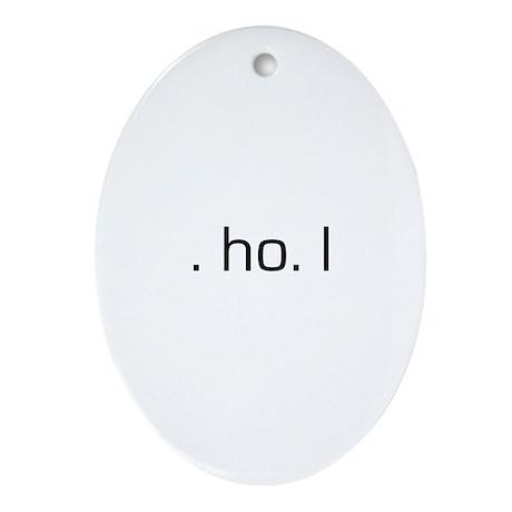 Ho Ho Ho Oval Ornament
