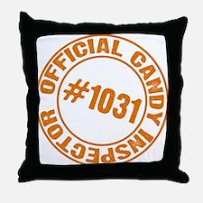 Candy Inspector Throw Pillow