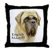 Mastiff Hope Throw Pillow