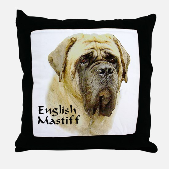 Mastiff Hope Throw Pillow