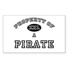 Property of a Pirate Rectangle Decal