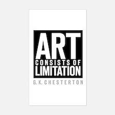 Art Limits Rectangle Decal