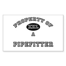 Property of a Pipefitter Rectangle Decal
