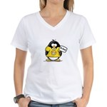 Do Good Penguin Women's V-Neck T-Shirt