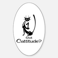 Got Cattitude? Oval Decal