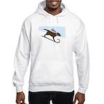 Chocolate Lab Toboggan Dog Hooded Sweatshirt