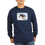 Chocolate Lab Toboggan Dog Lg Sleeve Dark T-Shirt