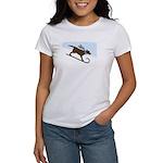 Chocolate Lab Toboggan Dog Women's T-Shirt