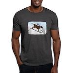 Chocolate Lab Toboggan Dog Dark T-Shirt