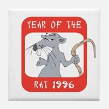 Year of The Rat 1996 Tile Coaster