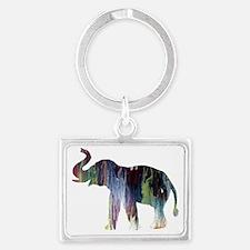 Funny Elephant theme Landscape Keychain