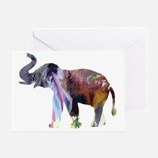 Funny Indian elephants Greeting Card