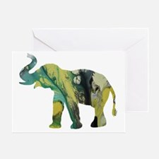Cute Elephant art Greeting Card