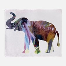 Funny Elephant pictures Throw Blanket