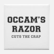 OCCAMS RAZOR - CUTS THE CRAP! Tile Coaster