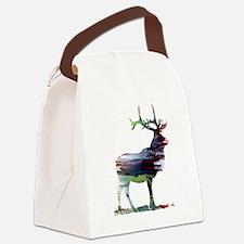 Unique Moose art Canvas Lunch Bag