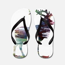 Unique Elk Flip Flops