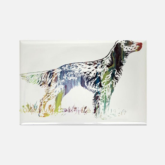 Cute English setter Rectangle Magnet