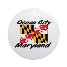 Ocean City Maryland Ornament (Round)