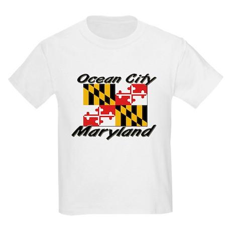 Ocean City Maryland Kids Light T-Shirt