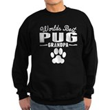 Pug grandma and pug grandpa Sweatshirt (dark)