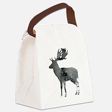 Cool Moose art Canvas Lunch Bag