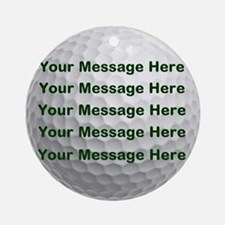 Personalize It, Golf Ball Round Ornament
