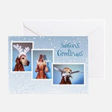 Vizsla Christmas Greeting Cards Cc005