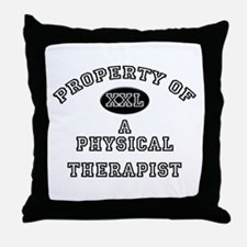 Property of a Physical Therapist Throw Pillow