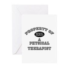 Property of a Physical Therapist Greeting Cards (P