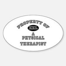 Property of a Physical Therapist Oval Decal