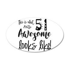 Awesome 51 Years Old 35x21 Oval Wall Decal