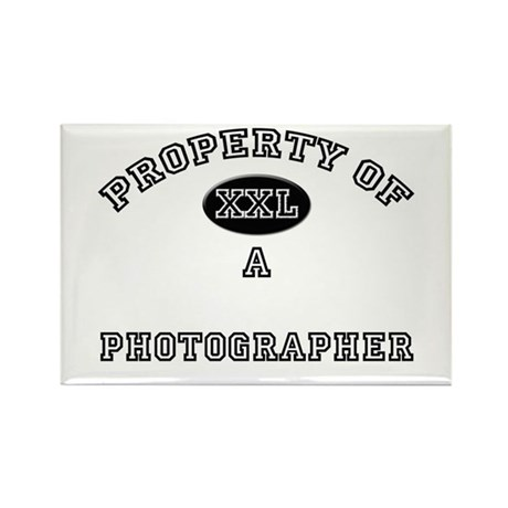 Property of a Photographer Rectangle Magnet (10 pa