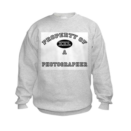 Property of a Photographer Kids Sweatshirt