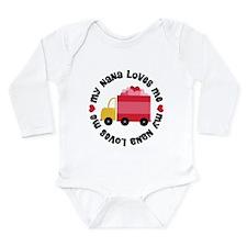 Unique My niece loves me Long Sleeve Infant Bodysuit