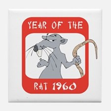 Year of The Rat 1960 Tile Coaster
