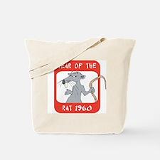 Year of The Rat 1960 Tote Bag