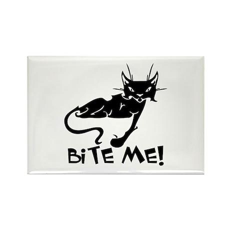 Bite Me Cat Rectangle Magnet (100 pack)