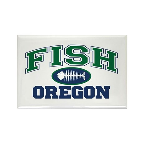 Fish Oklahoma Rectangle Magnet (10 pack)