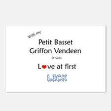 PBGV Lick Postcards (Package of 8)