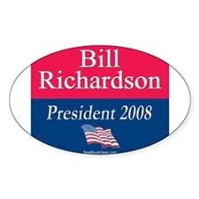 """Bill Richardson President"" Oval Decal"