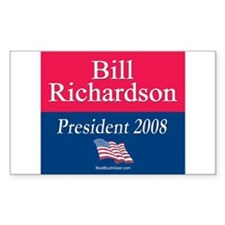 """Bill Richardson President"" Sticker (Rect.)"