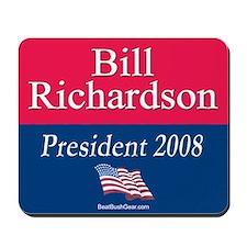 """Bill Richardson President"" Mousepad"