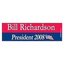"""Bill Richardson President"" Bumper Bumper Sticker"