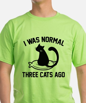I Was Normal Three Cats Ago White T-Shirt