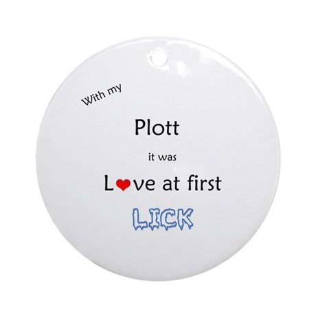Plott Lick Ornament (Round)