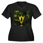 Lucifuge Women's Plus Size V-Neck Dark T-Shirt