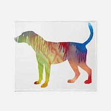 Cute English foxhound Throw Blanket